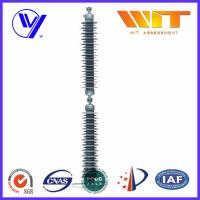 Line Type Grey  Silicone Housed Arrestors Polymeric Housing Surge Arrester for Power Transmission