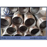 Buy cheap Water Treatment Johnson Screen Wedge Wire Stainless Steel Slot Tube Water Well from wholesalers