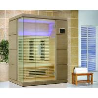 Quality 2 Person Hemlock Infrared Sauna Room with 220v Ceramic Heater for sale