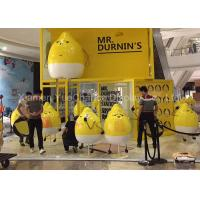 Quality Outdoor Plaza Advertising Cartoon Character Statues Fiberglass Lemon Shape Statue for sale