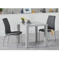 Buy cheap Square Modern Dining Table With Grey High Gloss E1 Boards European Style from wholesalers