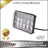 Quality 45W 4x6 super bright led sealed headlight universal 4x4 4D, install outside of the vehicles, dual functions headlamp for sale