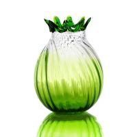 China Green Glass Craft Colored Glass Vase for KTV , Interior Decoration on sale