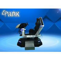 Quality White VR Racing Ride Car 9D Cinema Simulator Equipment Racing Car With 1 Seat for sale