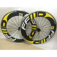 China carbon alloy wheel for bike in china alu c wheels mixed 23 wheelset 700C OEM 60&90mm U profile Clincher rim alloy brake on sale