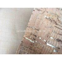 China Decorative A Grade Rubber Sheet Roll , Upholstery Cork Leather Fabric for Bag Shoe on sale