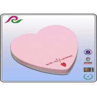 Quality 80gsm writing paper pink heart Shaped Sticky Notes of Offset printing for sale