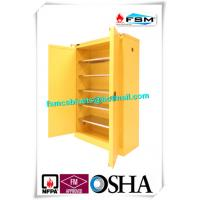 Lockable Chemical Storage Cabinets , Flammable Liquid Containers Double Vents