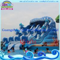 Quality Commercial inflatable pool slide, Portable adult water slide, Inflatable Giant Beach water for sale