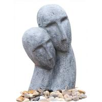 Quality Long Face Figure Outdoor Resin Garden Fountains Decor OEM Acceptable for sale