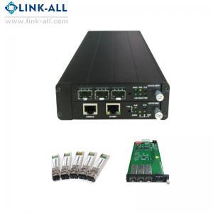 Quality UC6100-S2 Gigabit Ethernet Fiber Media Converter with 1 slot NMC card and 1 slot line card for sale
