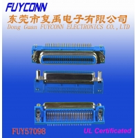 Quality 36 Pin Centronic PCB Right Angel Female Printer connector with Jack Screws and Board Lock for sale