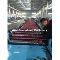 Quality Hydraulic Metal Glazed Roof Tile Making Machine , Tile Forming Machine for sale