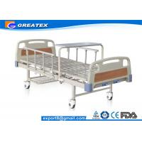 Quality Durable frame Steel board Two Crank Manual Bariatric Hospital Beds With Foldable Table for sale