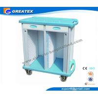 Quality 2 Drawers Double Rows 50 Layers  hospital plastic record trolley ABS for sale