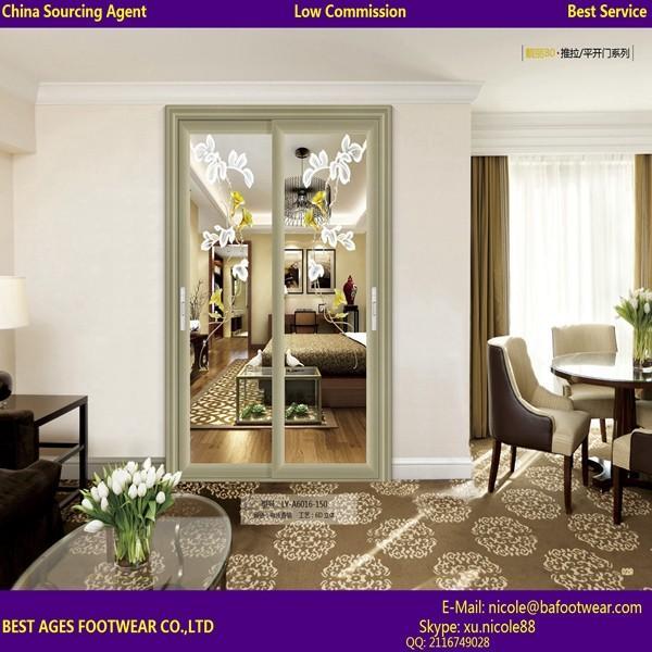 Buy 2015 aluminum residential modern room door designs at wholesale prices