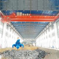 Quality 22 Meter 10 Ton Overhead Crane QZ Type Garbage Grab PLC System Optional for sale