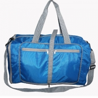 Quality Polyester Foldable Duffel Bag With Independent Shoe Compartment for sale