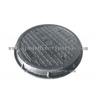 China Anti-slip pattern custom made hardware parts ductile iron square frame with a round cover make in China on sale