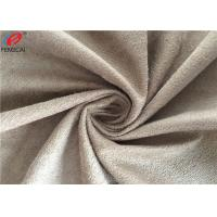 Quality Upholstery Sofa Fabric Brushed Micro Suede Polyester Fabric With 140GSM for sale