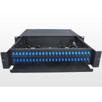 Buy cheap Sliding Type 2U Fiber Optic Patch Panel Durable SC Optical Fiber Distribution from wholesalers