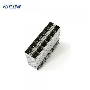 Quality 240pin Female 2*6 12 Ports Press Pin Fit SFP+ Cage Connector for sale