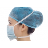 Quality Non Sterile Meltblown Nonnoven Tie On Face Mask For Hospital Medical Using for sale