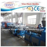 Quality twin conical extruder semiautomatic new design WPC foam board production line for sale