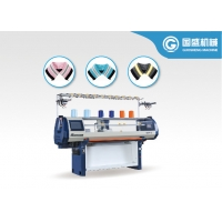 Quality Flat Bed Jacquard Polo Collar Knitting Machine for sale
