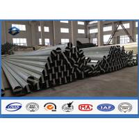 Quality Material Q345 30FT 9150mm Galvanised Steel Pole 2.75MM / 3.0MM Wall thickness for sale