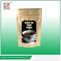 Quality Heat Seal Ziplock Stand Up Zipper Aluminum Foil Coffee Packaging Bags for sale