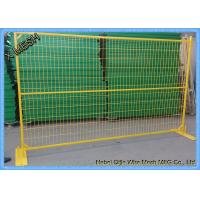 Portable Temporary Metal Fence PanelsPVC Coated Steel Feet  6' X 8' Size