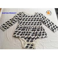 China Long Sleeve Newborn Baby Outfits 100% Cotton Rabbit AOP Baby Romper For Fall / Winter on sale