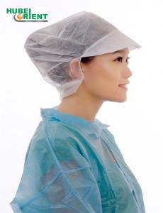 Quality Single Use Polypropylene Non Woven Bouffant Head Cap With Peak for sale