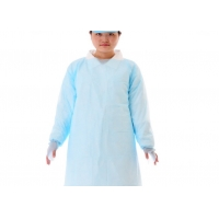 Quality Long Sleeves Disposable CPE Isolation Gown For Hospital for sale