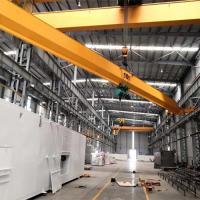 Quality 10T Single Girder Overhead Cranes With Wire Rope Electric Hoist And Remote Control for sale