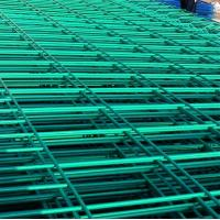 Quality green yellow white powder coated steel wire fence panel for sale