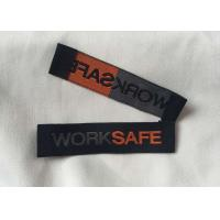 China Personalized Sewing Tags Labels , Woven Shirt Labels Content Labels For Clothing on sale