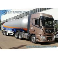 Quality 12 Wheels 56KL LPG Semi Trailer , 3 Axles LPG Transport Truck 1.61MPa Pressure for sale