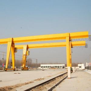 Quality MH Type Wire Rope Hoist Single Girder Gantry Crane 18-35m Span Convenient Maintenance for sale