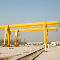 Buy cheap MH Type Wire Rope Hoist Single Girder Gantry Crane 18-35m Span Convenient from wholesalers
