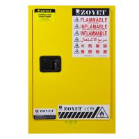 Buy cheap Yellow Fireproof Flammable Safety Cabinets 12 Gal / 45L With Adjustable Leveling from wholesalers
