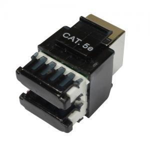 Quality FTP Cat5e T568A T568B wiring RJ45 black modular jacks , Rj45 Keystone Jack for sale