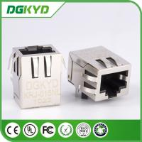 DSL / ADSL Right Angle 10 / 100 base RJ45 female jack with transformer,Rohs Compliant