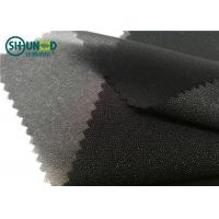 Buy cheap White / Black Polyester Plain Weave Woven Fusing Interlining For Garment from wholesalers