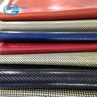 Quality real carbon fiber bag pu leather for sale