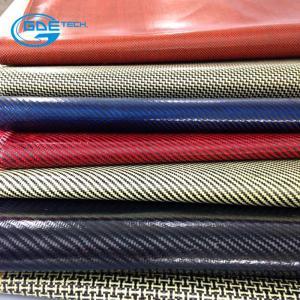 Quality real carbon fiber burse pu leather for sale