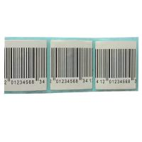 Quality 30mmx30mm EAS RF  alarm security label 8.2MHz barcode white security label sticker for sale