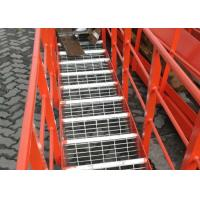 Expanded Steel Stair Treads Grating , Galvanized Bar Grating Stair Treads