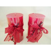 Quality Metallic Festival Scented Pillar Candles For Travel, Church for sale
